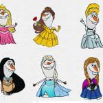 ディズニープリンセスになったオラフがゆる可愛い!【アナと雪の女王】