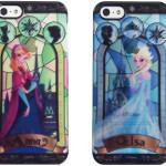 アナと雪の女王 アナとエルサのステンドグラス風iphone5/5Sケースが美しい!まるで氷ような透明感