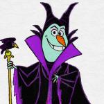 ディズニーヴィランズになったオラフのイラストが可愛い!悪役なのに怖くないwwwww
