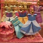 【TDRお土産】ディズニープリンセスのドレスが折れる折り紙メモ帳